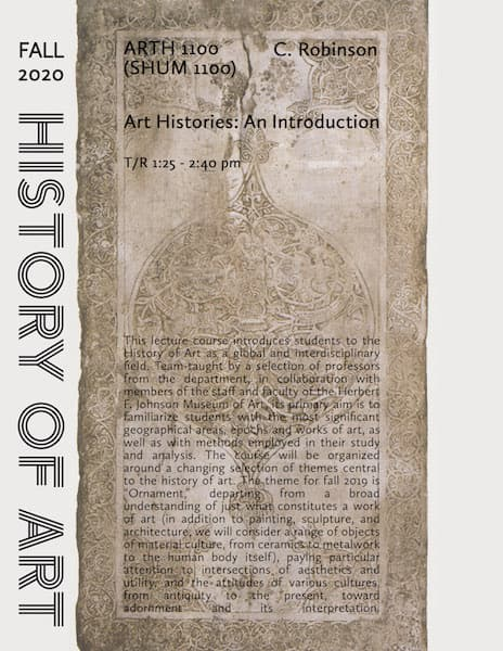 Poster for ARTH 1100 all text is repeated in the article body
