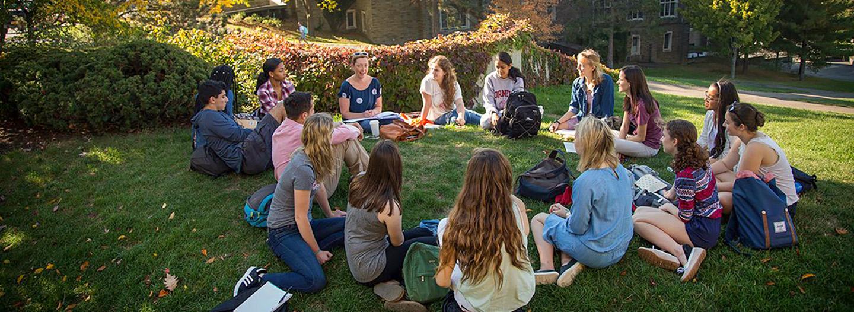 an outdoor class on the grass